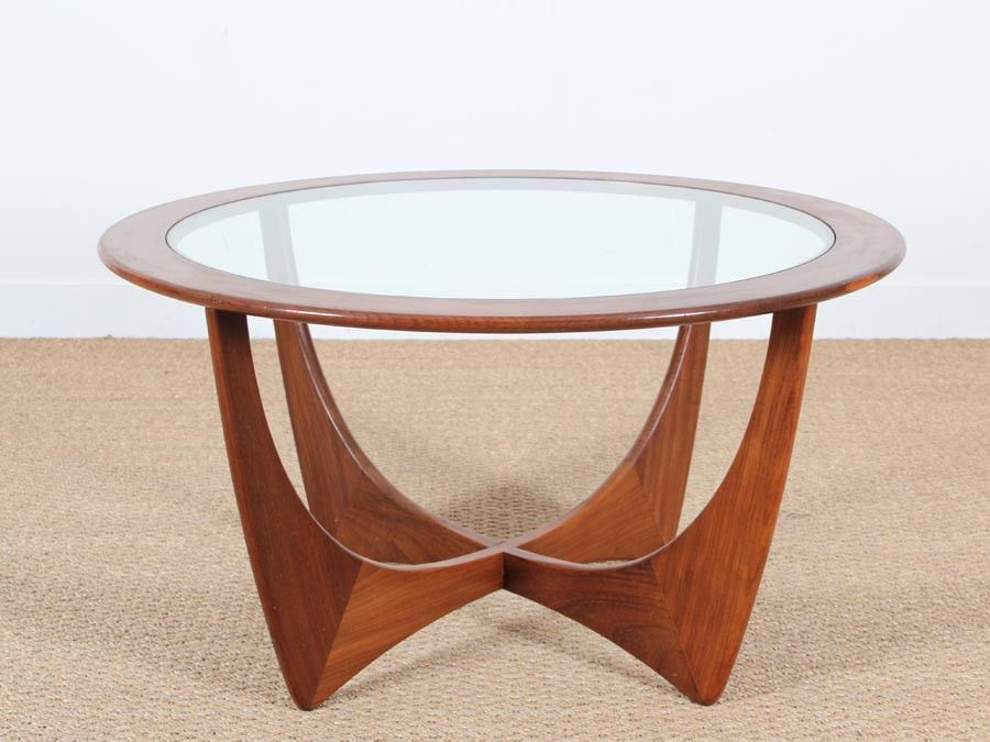 Table basse ronde verre scandinave