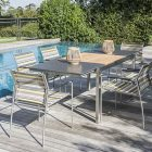 Salon de jardin bois table basse