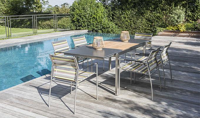 Salon de jardin bois table basse