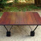 Table basse metal et bois pinterest