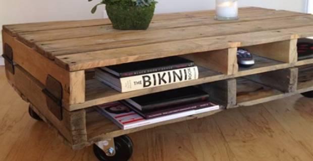 Comment fabriquer table basse palette bois