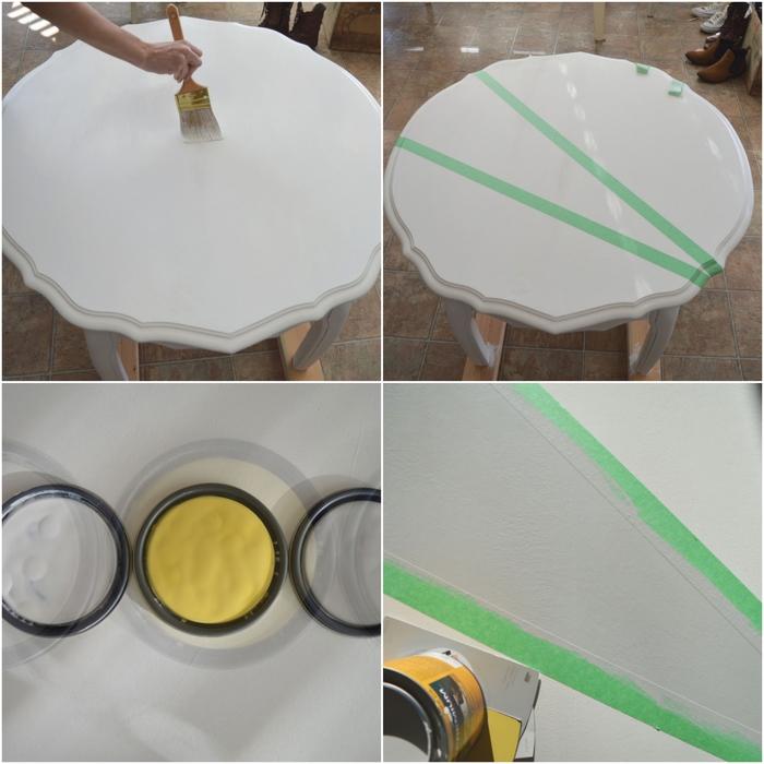 Repeindre une table basse en bois
