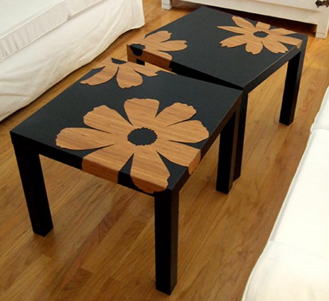 Table basse ikea lack customisée