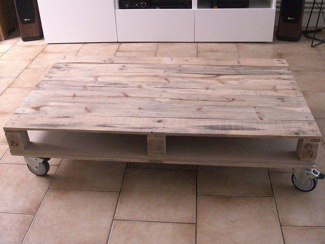 Fabriquer un table basse avec une palette