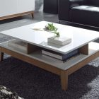 Table basse scandinave carree