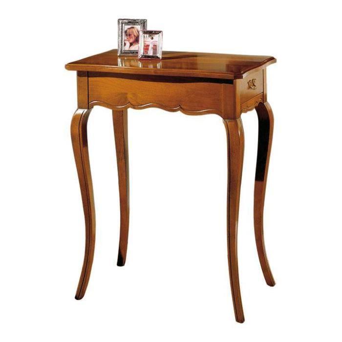 Table basse bois style louis xv