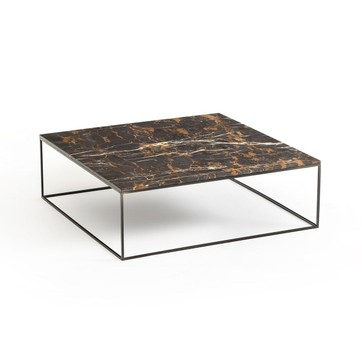 Table basse scandinave effet marbre