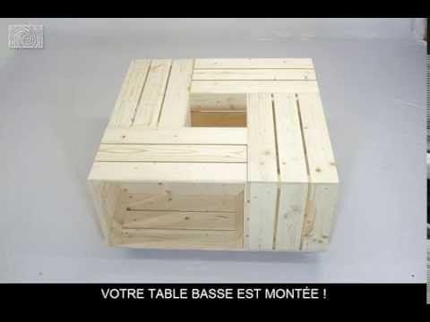 Fabriquer table basse cagette bois