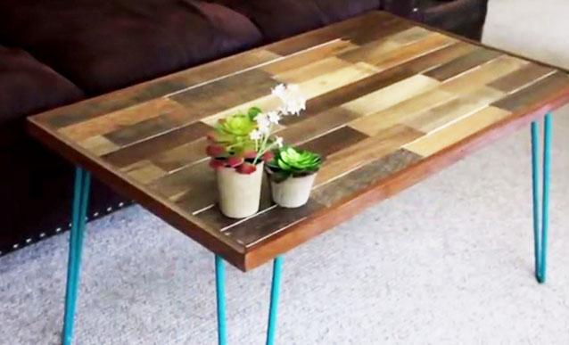 Faire palette table basse
