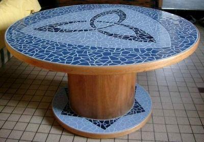 Table basse palette et mosaique