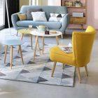 Salon avec table basse scandinave