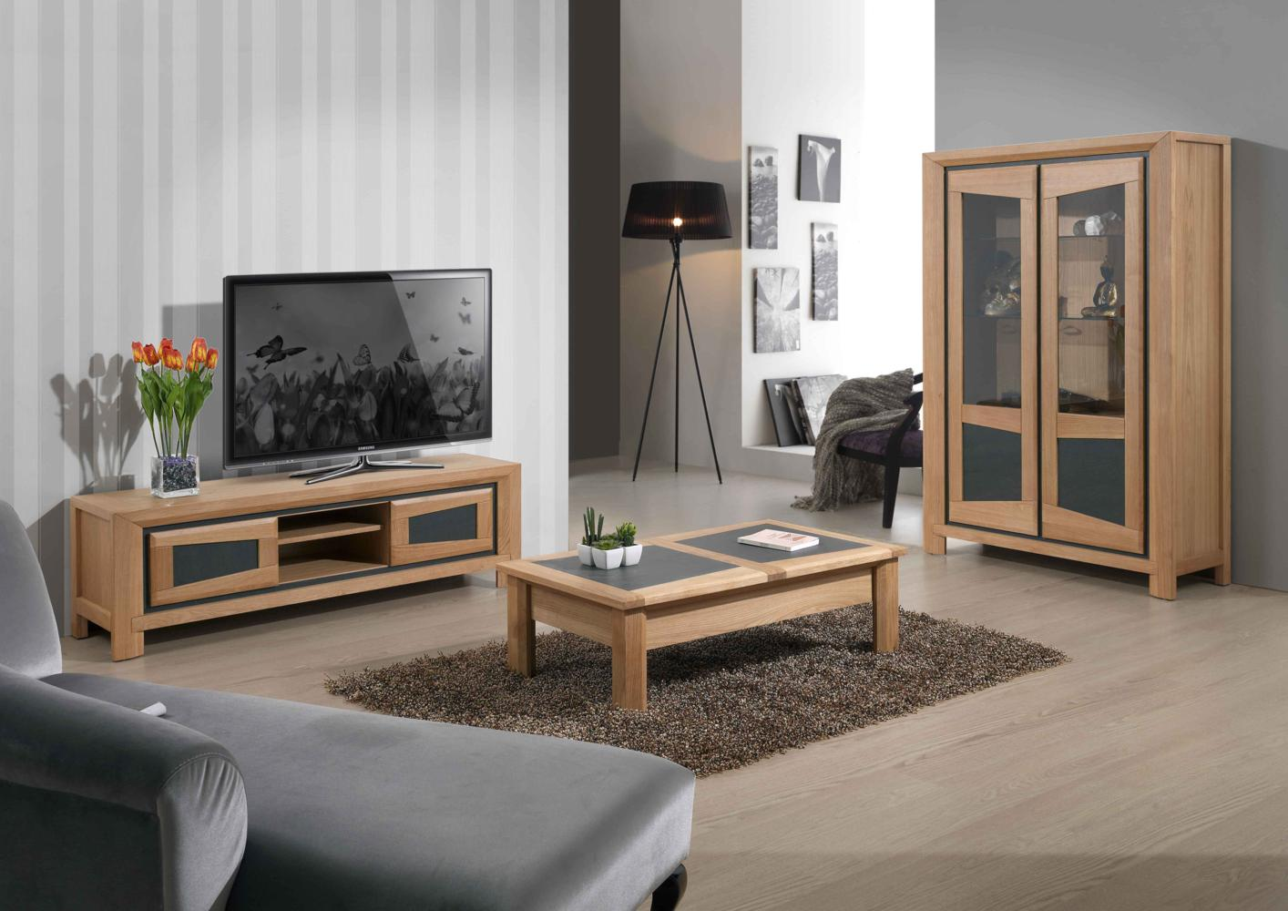 Table basse bois pour tv