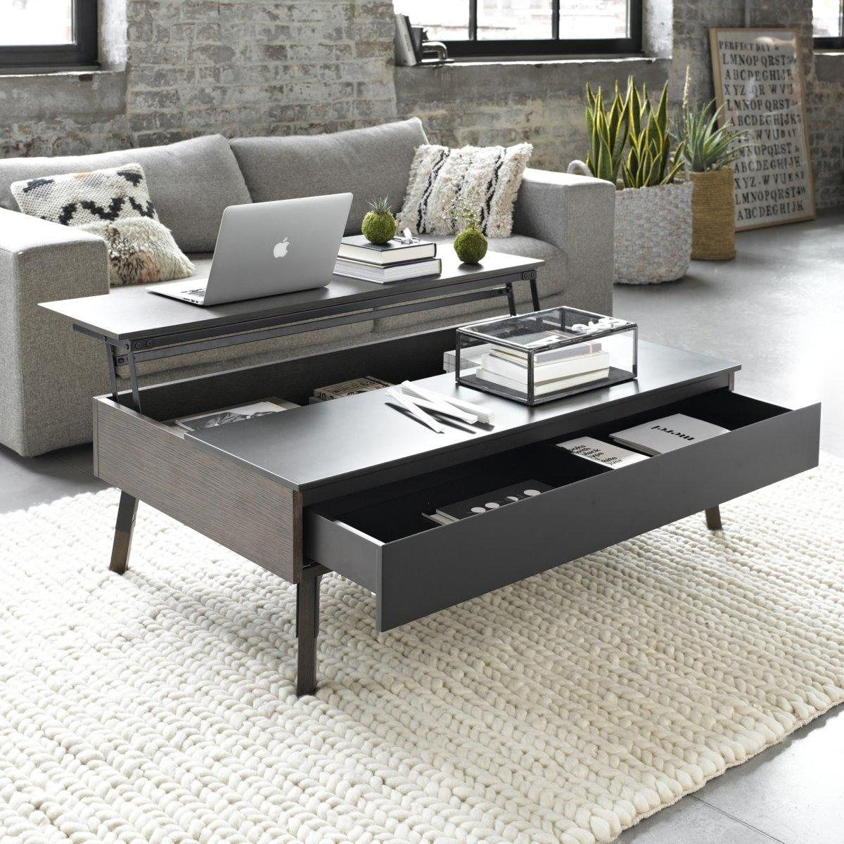 Table basse plateau relevable up