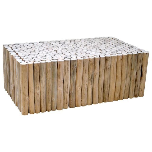 Rondins de bois table basse