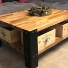 Panneau de bois pour table basse