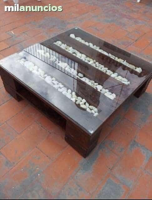 Idée table basse en palette