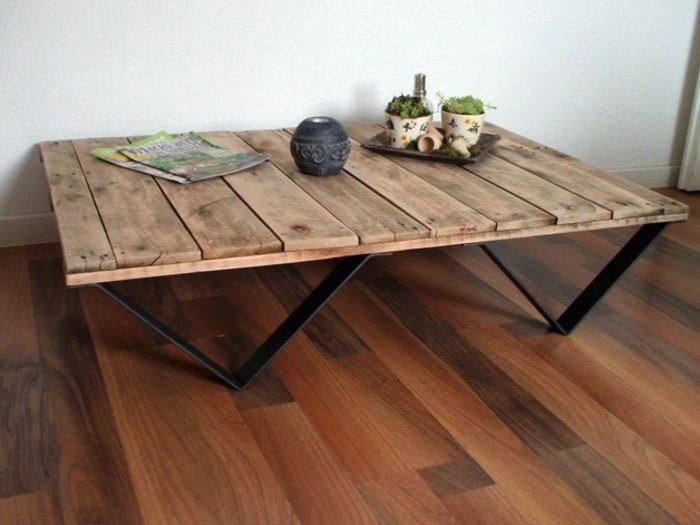 Table basse palette originale