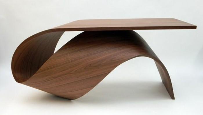Table basse designer bois