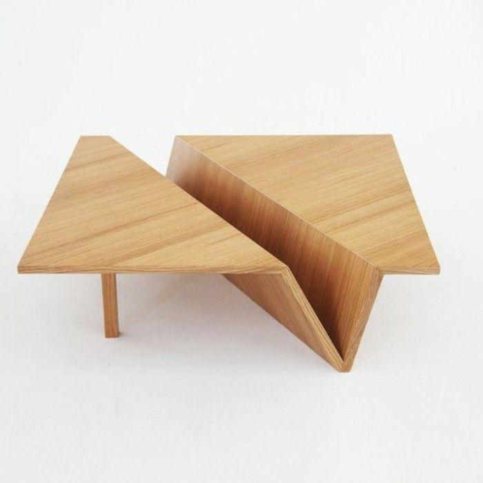 Table basse bois a roulettes