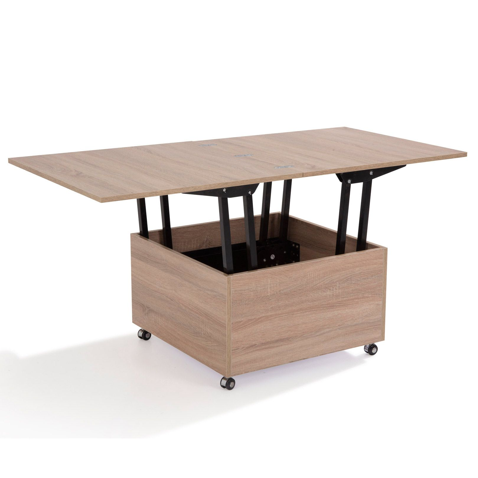 Table basse 80 x 80 relevable carree