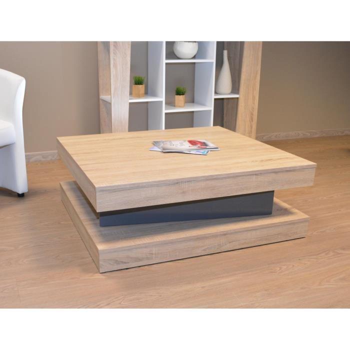 Table basse salon bois clair