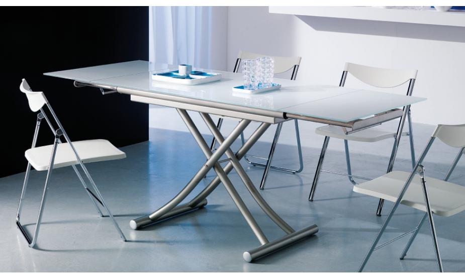 Table basse relevable dépliante