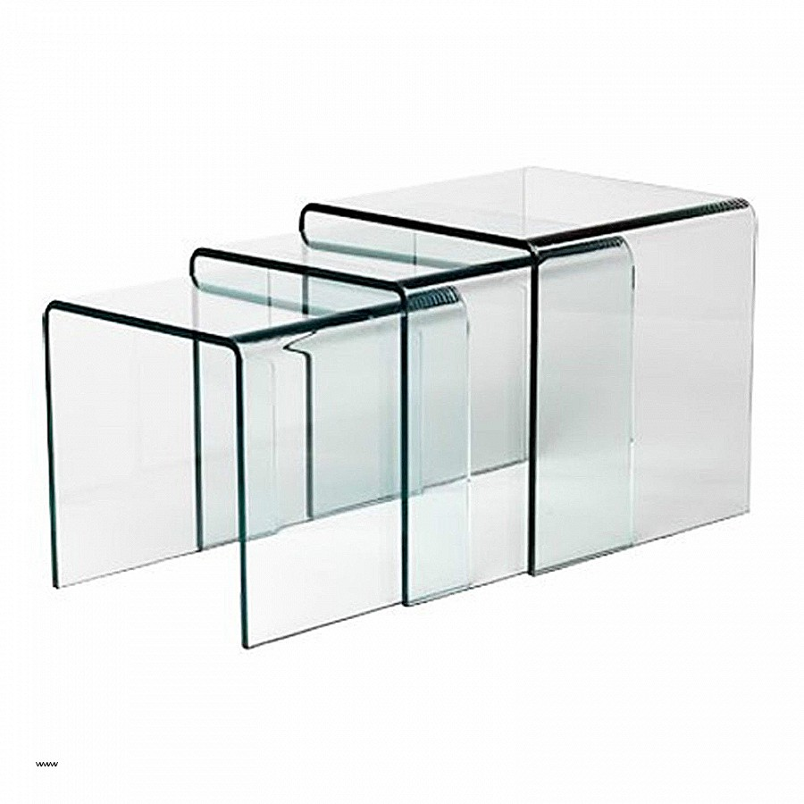 Table basse fly verre