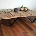 Table basse en palette scandinave