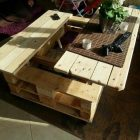 Bricolage table basse palette