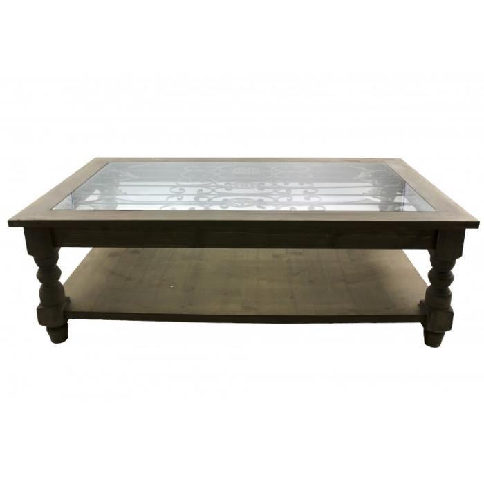 Grande table basse de salon en bois