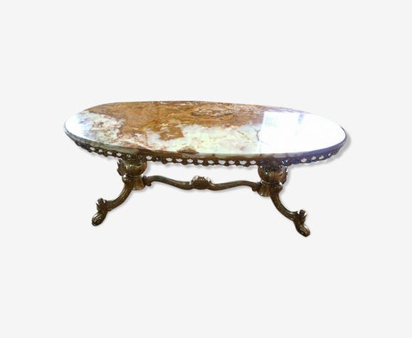 Table basse marbre bronze