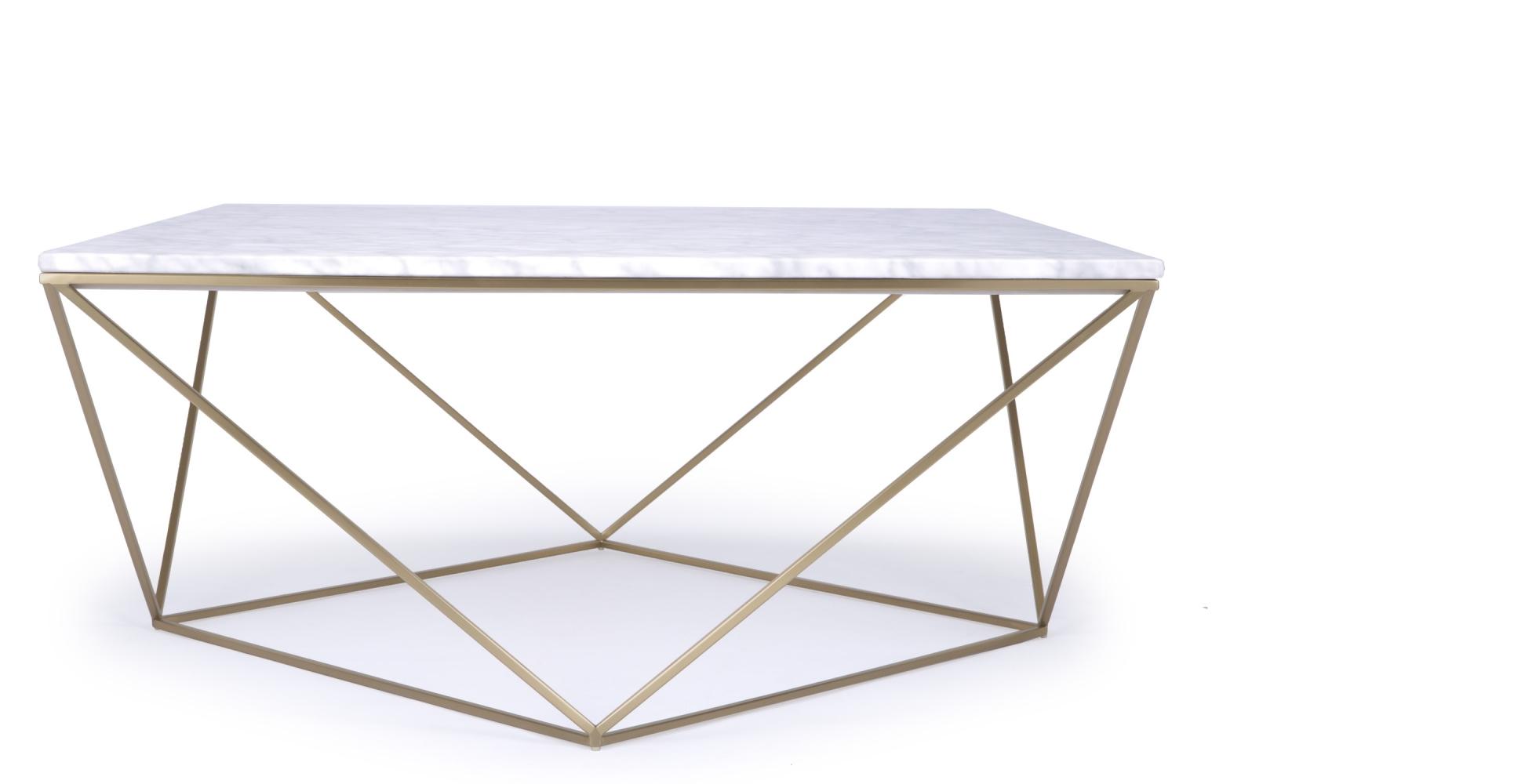 Table basse avec plateau marbre