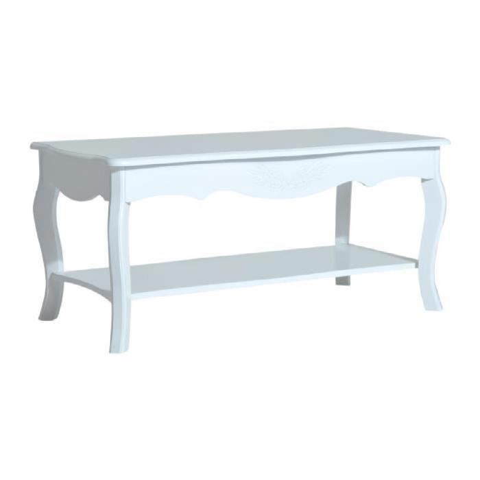 Table basse bois avec etagere