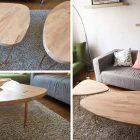 Babette table basse scandinave pieds en eucalyptus – l 90 x p 45 cm