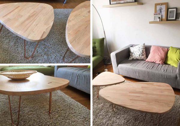 Table basse façon scandinave