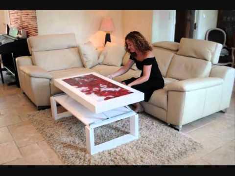 Fabriquer une table basse relevable