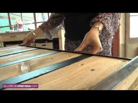 Table basse palette fer forgé