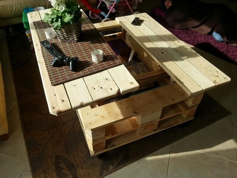 Diy table basse relevable