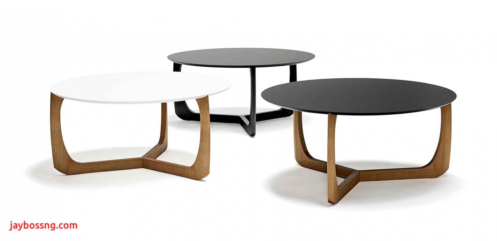 Table basse ronde fer forgé et bois