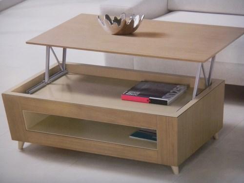 Table basse relevable couleur bois