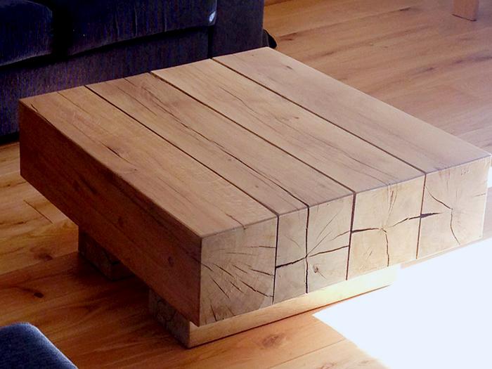 Table basse poutre bois