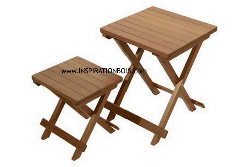 Table basse bois clair design