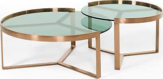 Table basse ronde gigogne en verre