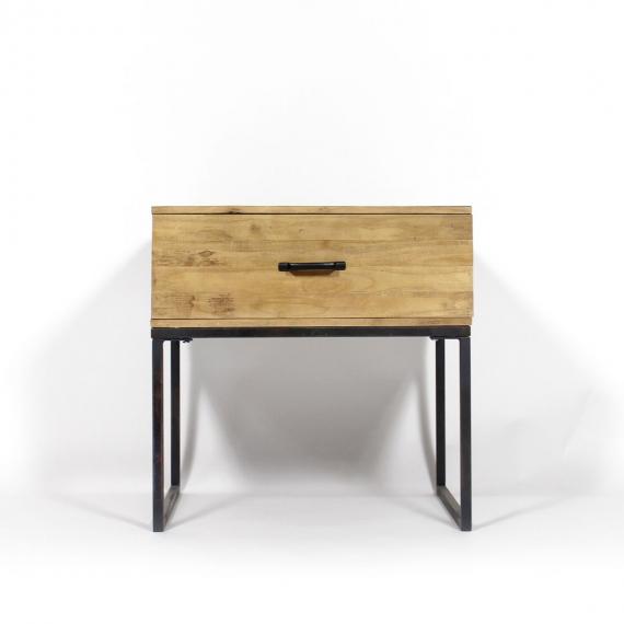 Table basse bois face