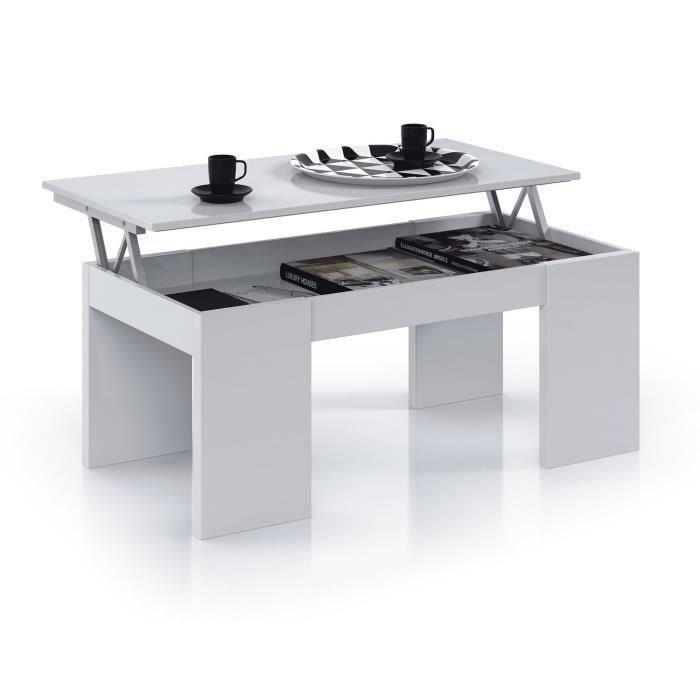 Open table basse plateau relevable
