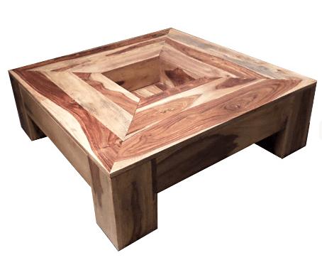 Table basse bois use
