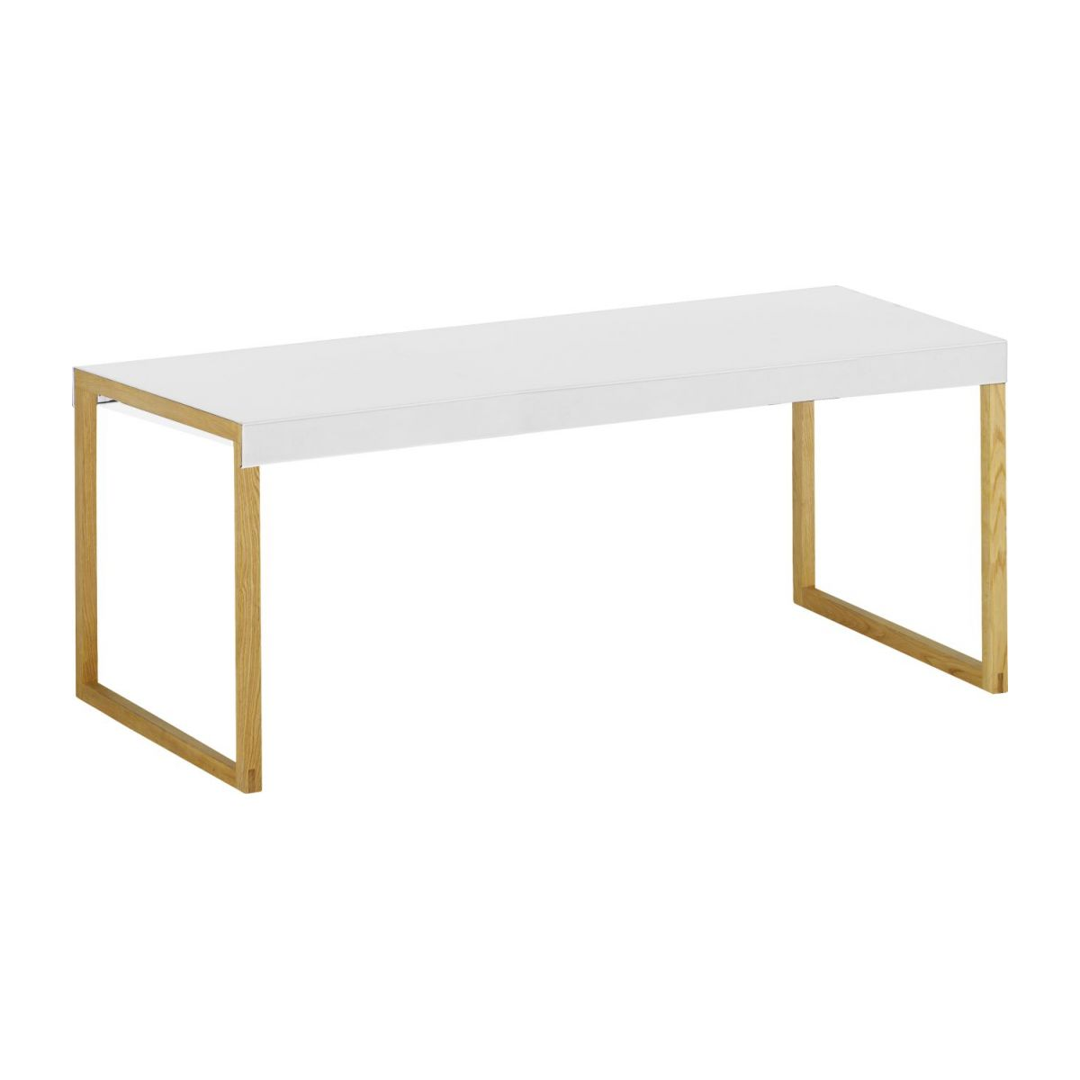 Table basse bois pied blanc