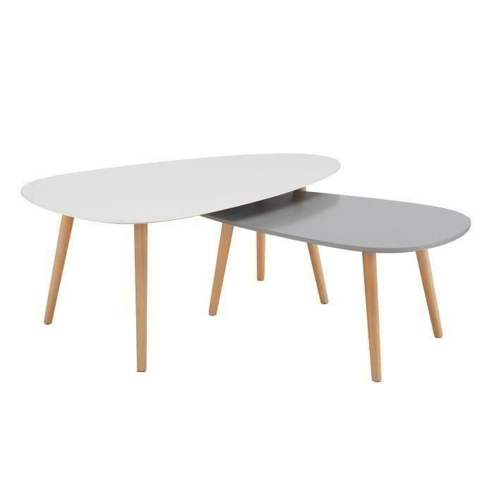 Petite table basse scandinave blanche