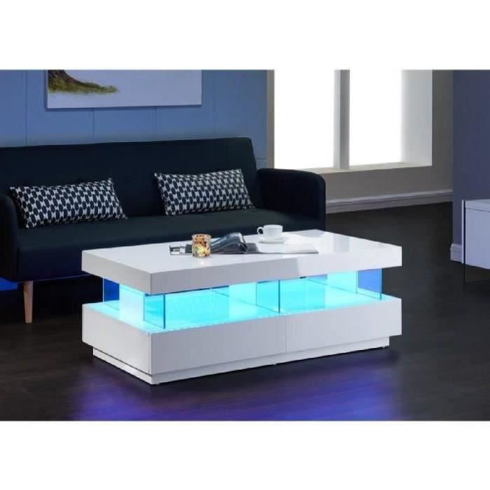 Table basse ronde led