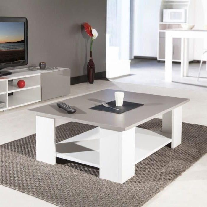 Table basse taupe pas cher